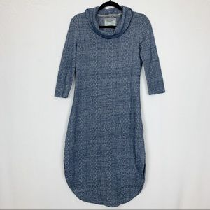 Anthropologie Saturday Sunday Cowl Neck Midi Dress